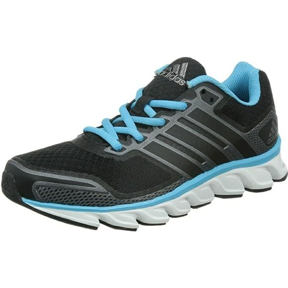 Blue & black adidas running shoes